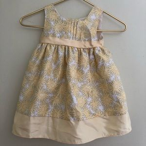 George 24months floral sleeveless dress yellow